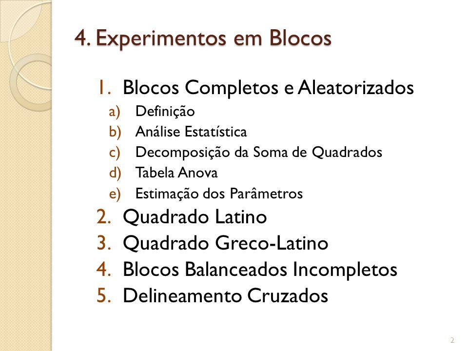 4. Experimentos em Blocos