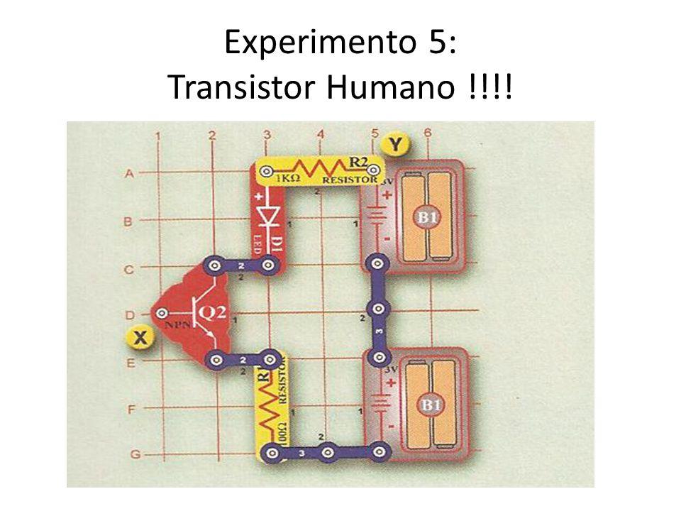 Experimento 5: Transistor Humano !!!!