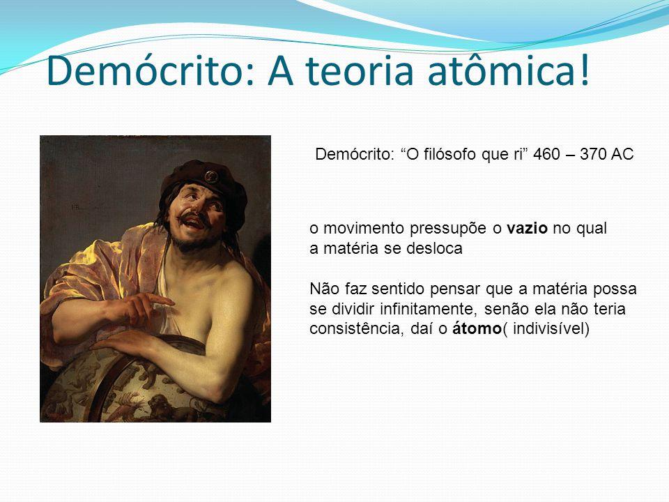 Demócrito: A teoria atômica!