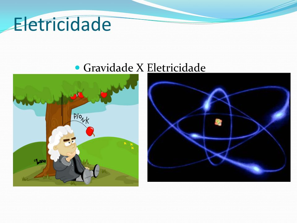 Eletricidade Gravidade X Eletricidade