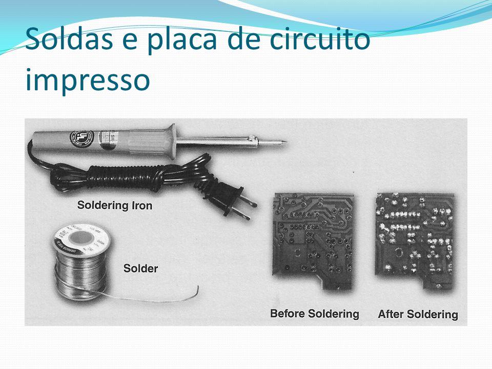Soldas e placa de circuito impresso
