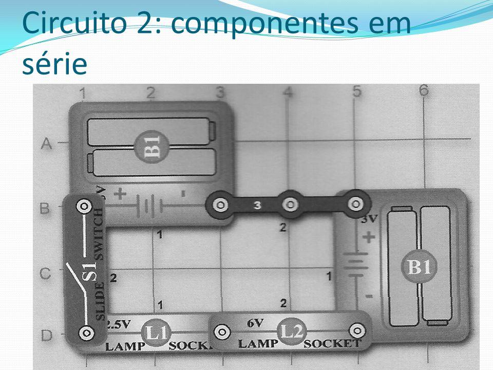 Circuito 2: componentes em série