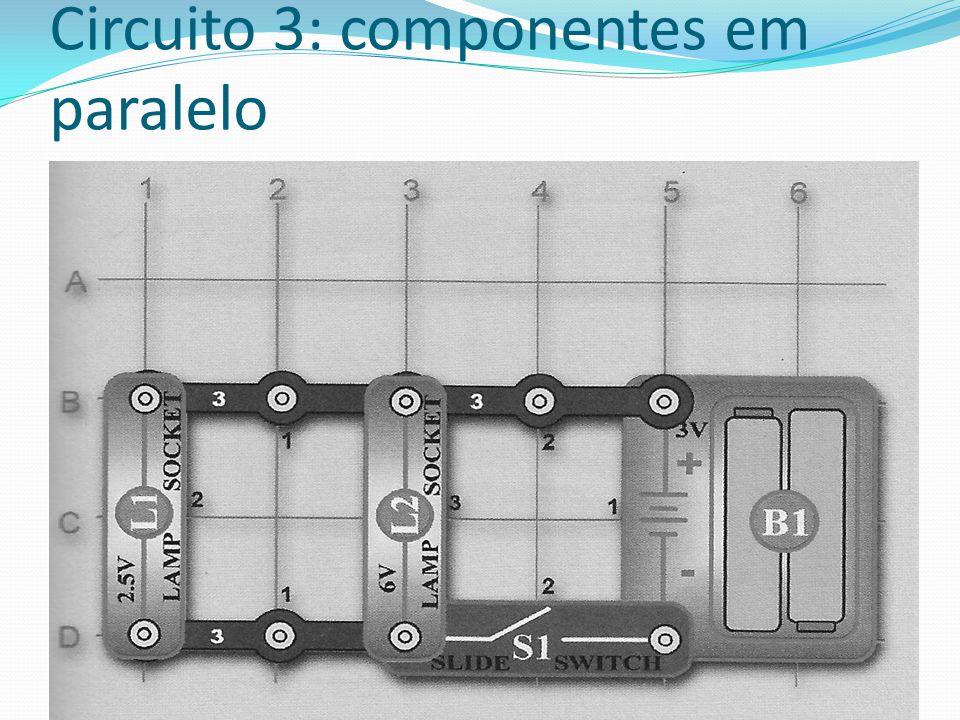 Circuito 3: componentes em paralelo