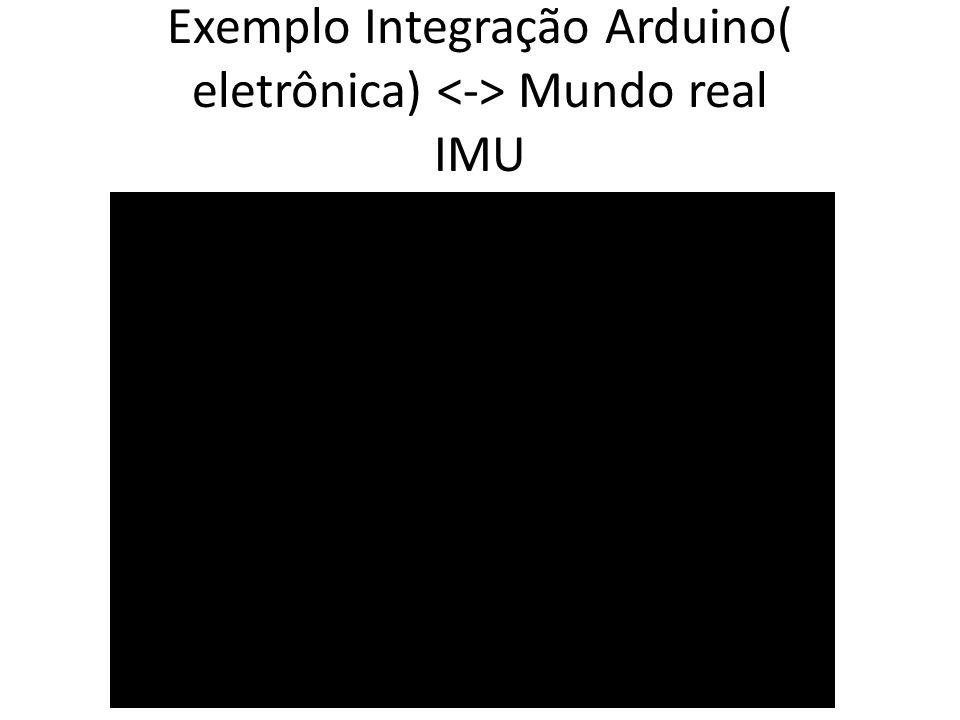 Exemplo Integração Arduino( eletrônica) <-> Mundo real IMU