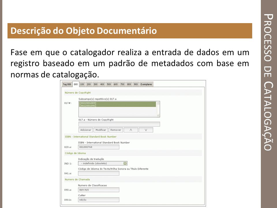 Processo de Catalogação