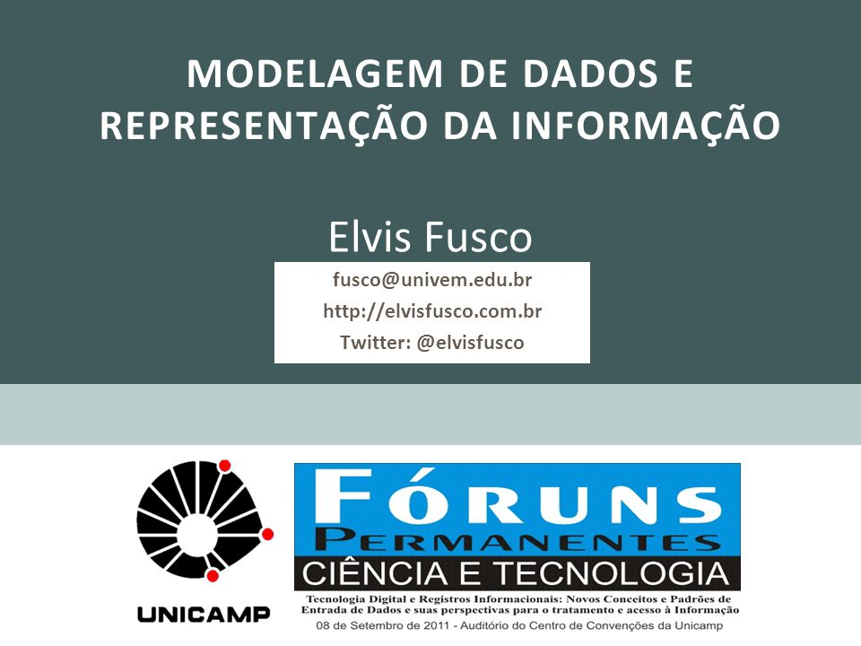 fusco@univem.edu.br http://elvisfusco.com.br Twitter: @elvisfusco