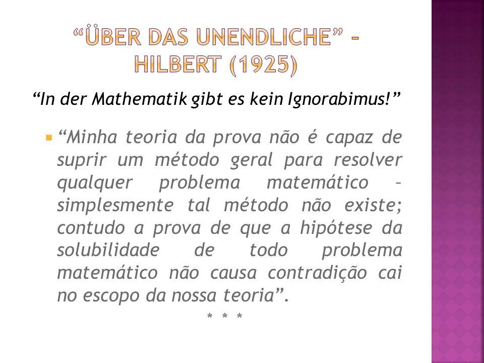 Über das unendliche – Hilbert (1925)