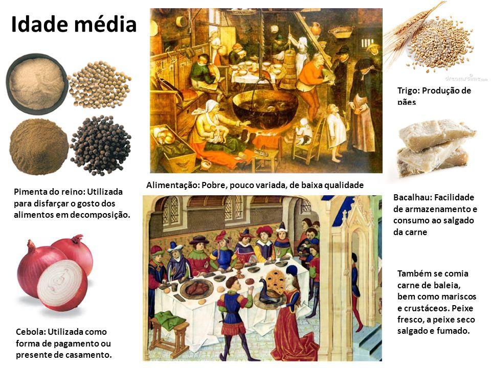 Idade média Inserir figuras Trigo: Produção de pães entre outros