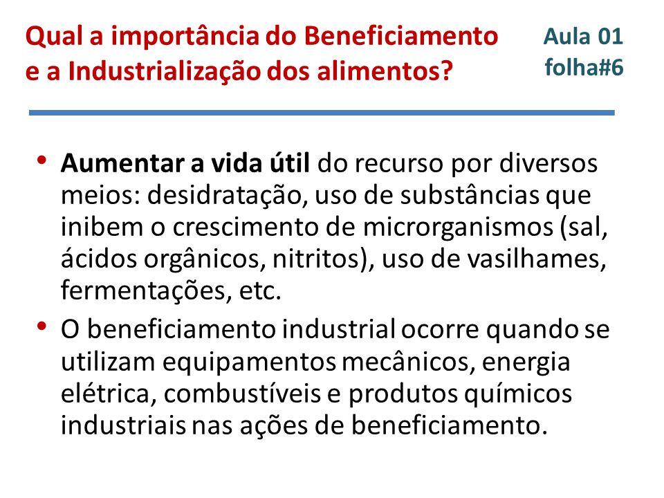 Qual a importância do Beneficiamento e a Industrialização dos alimentos