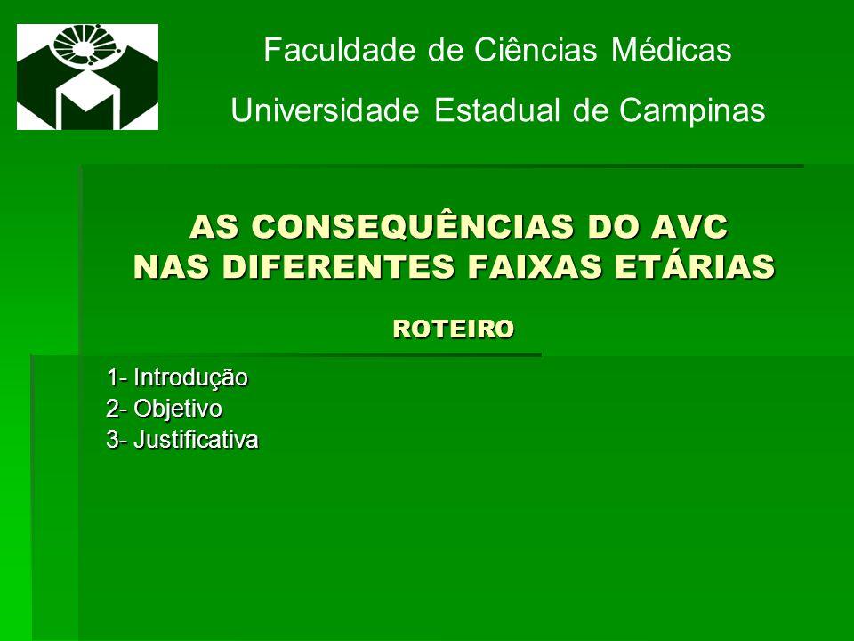 AS CONSEQUÊNCIAS DO AVC NAS DIFERENTES FAIXAS ETÁRIAS ROTEIRO