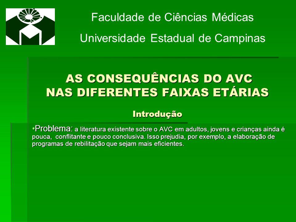 AS CONSEQUÊNCIAS DO AVC NAS DIFERENTES FAIXAS ETÁRIAS Introdução