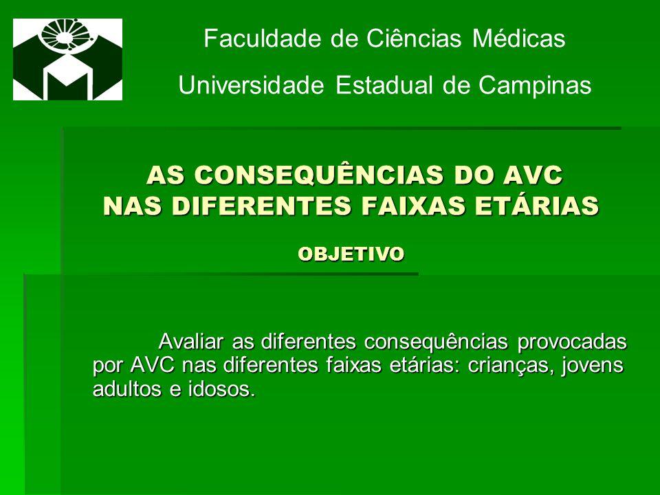 AS CONSEQUÊNCIAS DO AVC NAS DIFERENTES FAIXAS ETÁRIAS OBJETIVO