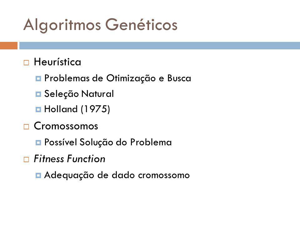 Algoritmos Genéticos Heurística Cromossomos Fitness Function