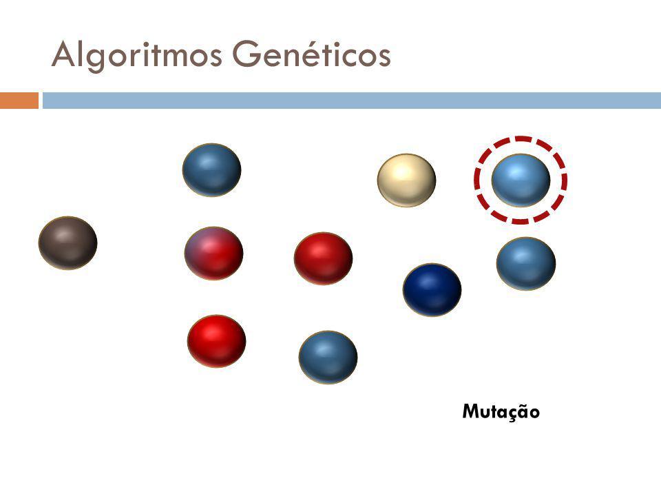 Algoritmos Genéticos Vide comentários de crossover Mutação