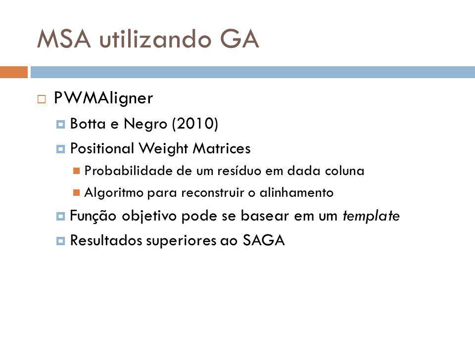 MSA utilizando GA PWMAligner Botta e Negro (2010)