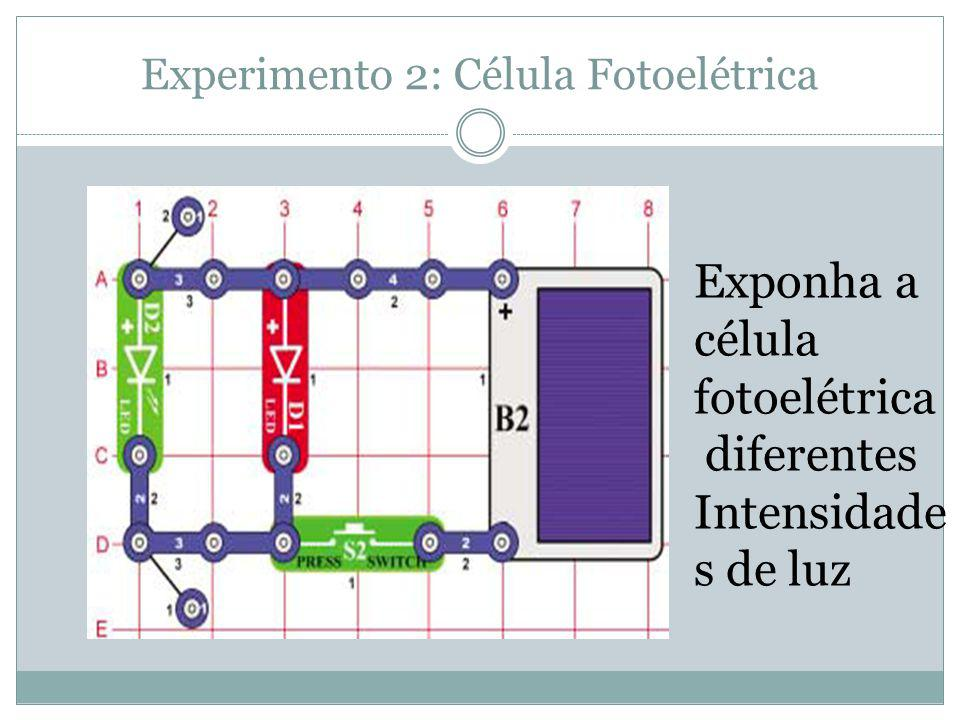 Experimento 2: Célula Fotoelétrica