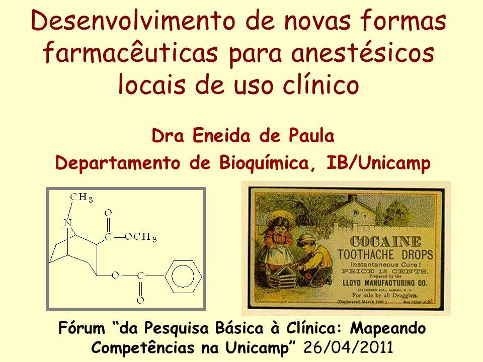 Dra Eneida de Paula Departamento de Bioquímica, IB/Unicamp