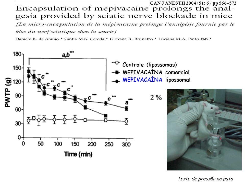 Controle (lipossomas) MEPIVACAÍNA comercial MEPIVACAÍNA lipossomal