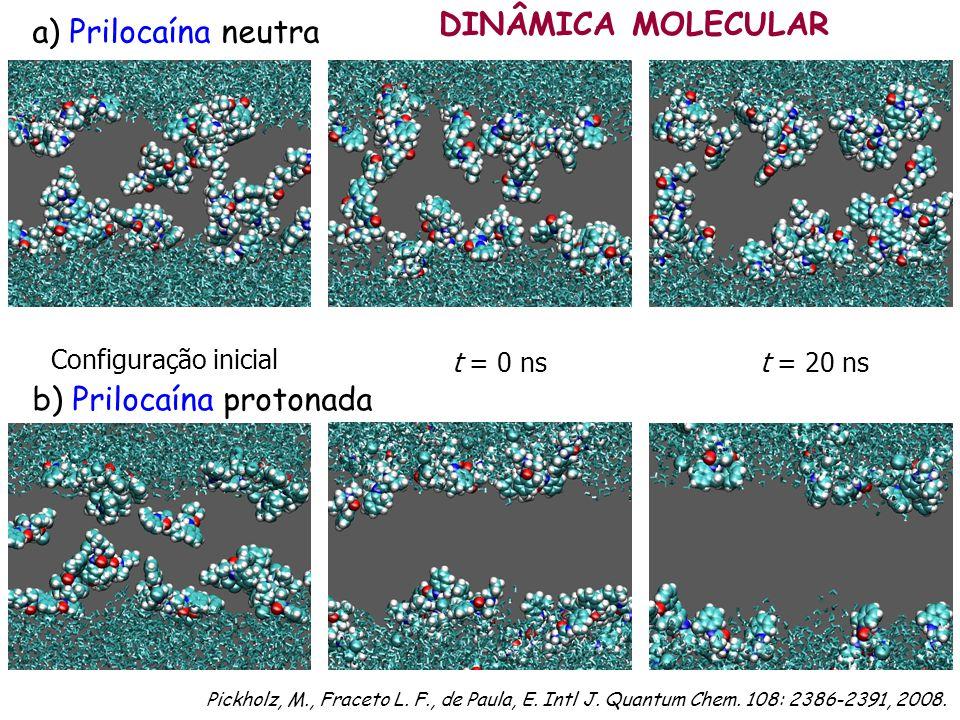 b) Prilocaína protonada