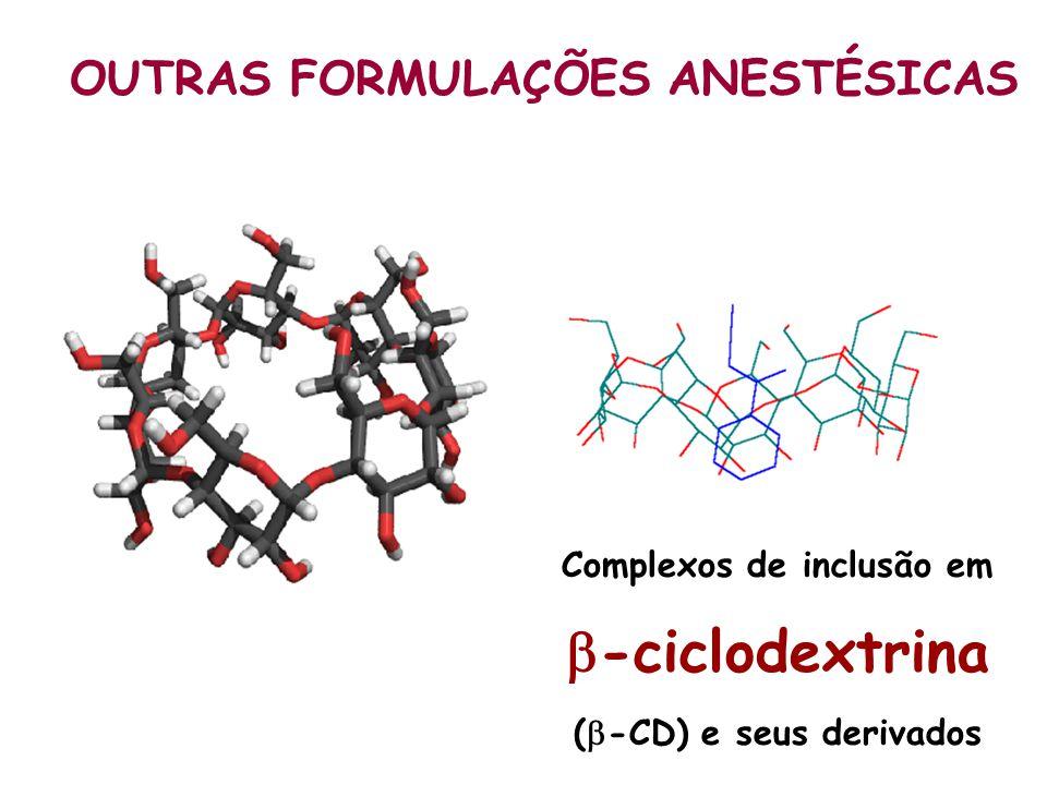 Complexos de inclusão em -ciclodextrina (-CD) e seus derivados