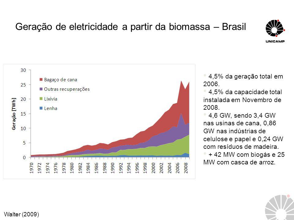 Geração de eletricidade a partir da biomassa – Brasil