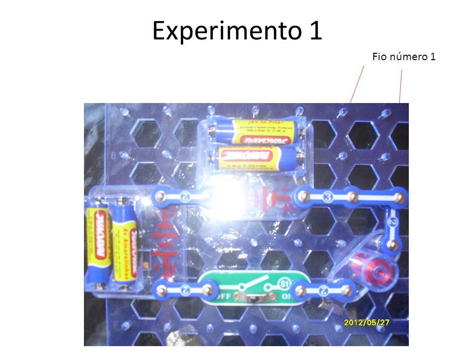 Experimento 1 Fio número 1