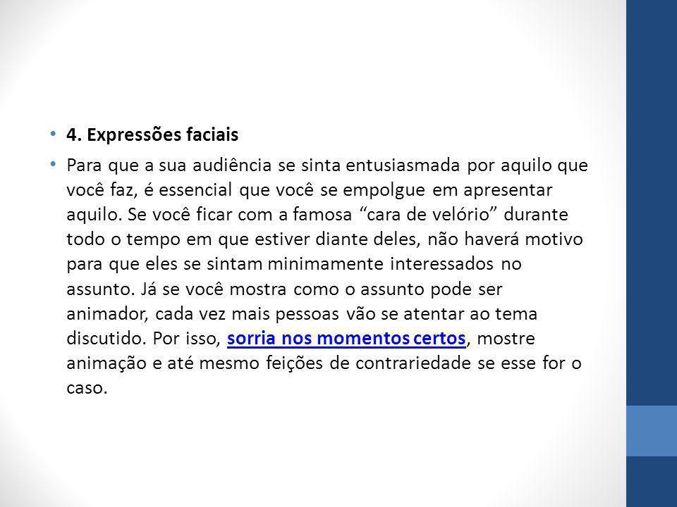 4. Expressões faciais