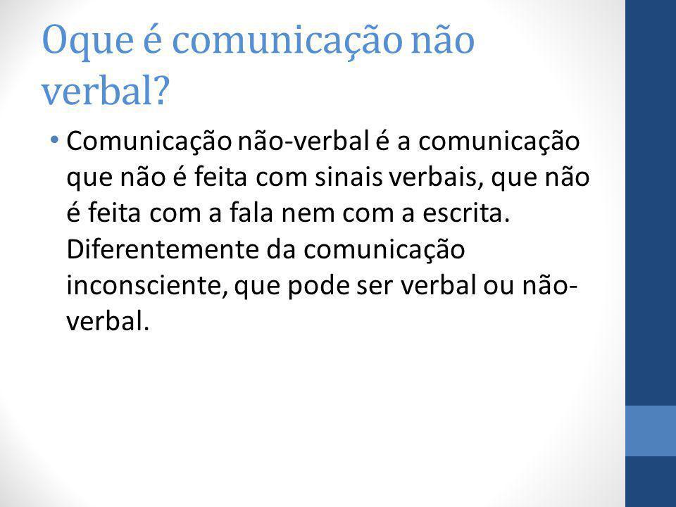 Oque é comunicação não verbal