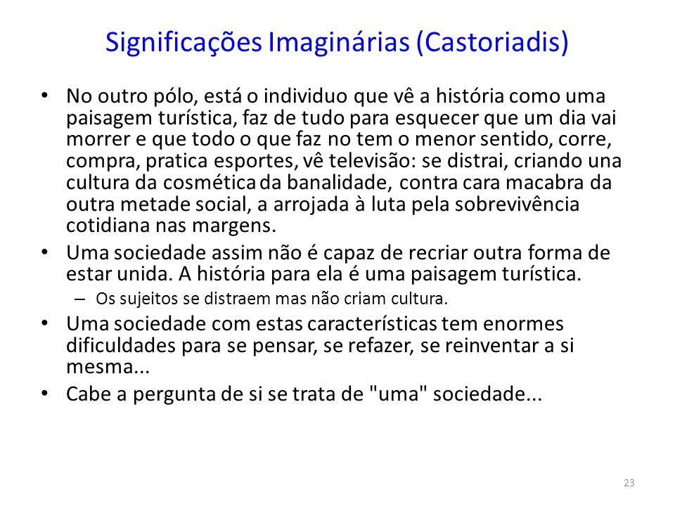 Significações Imaginárias (Castoriadis)