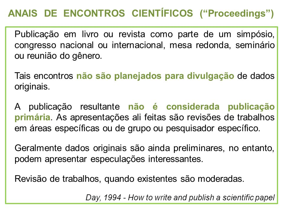 ANAIS DE ENCONTROS CIENTÍFICOS ( Proceedings )