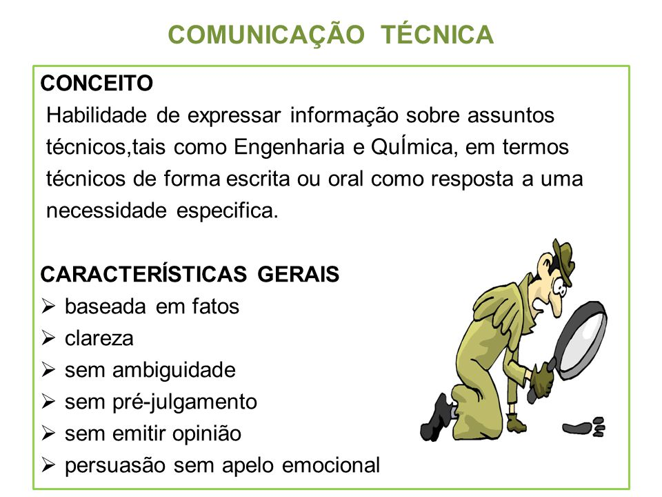 COMUNICAÇÃO TÉCNICA CONCEITO