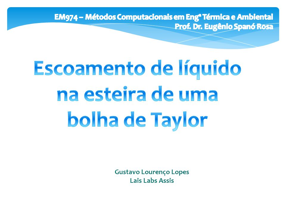 Escoamento de líquido na esteira de uma bolha de Taylor