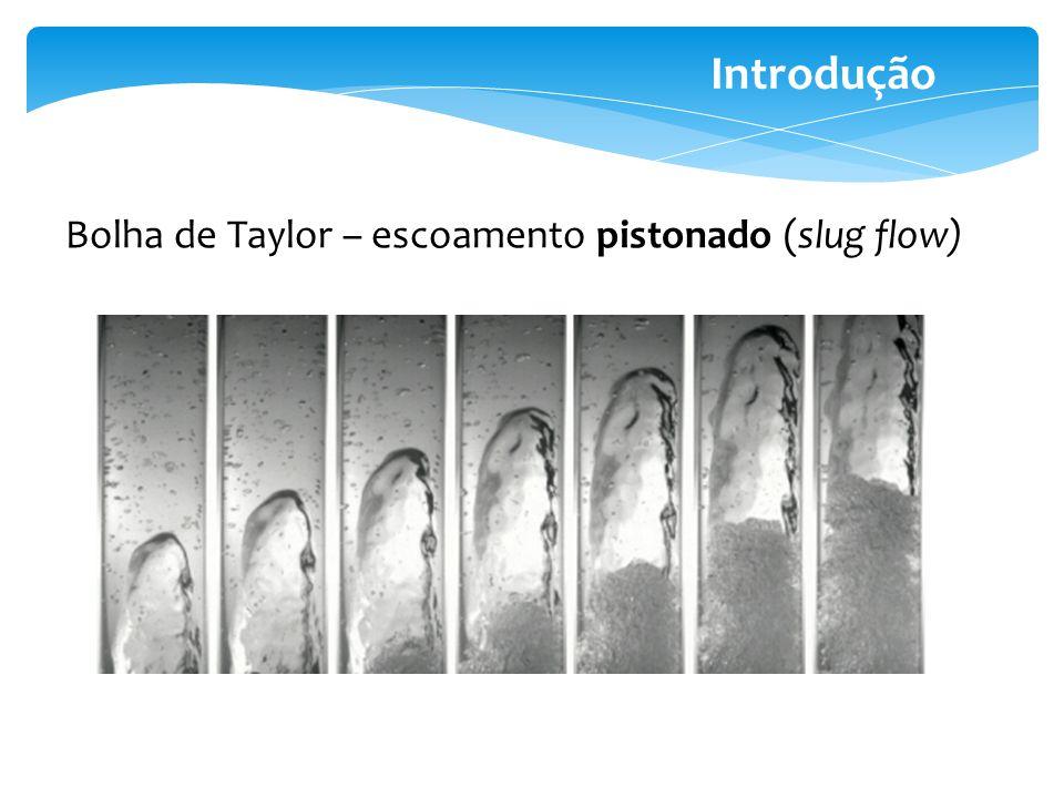 Introdução Bolha de Taylor – escoamento pistonado (slug flow)