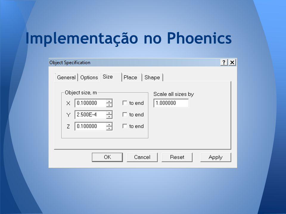 Implementação no Phoenics
