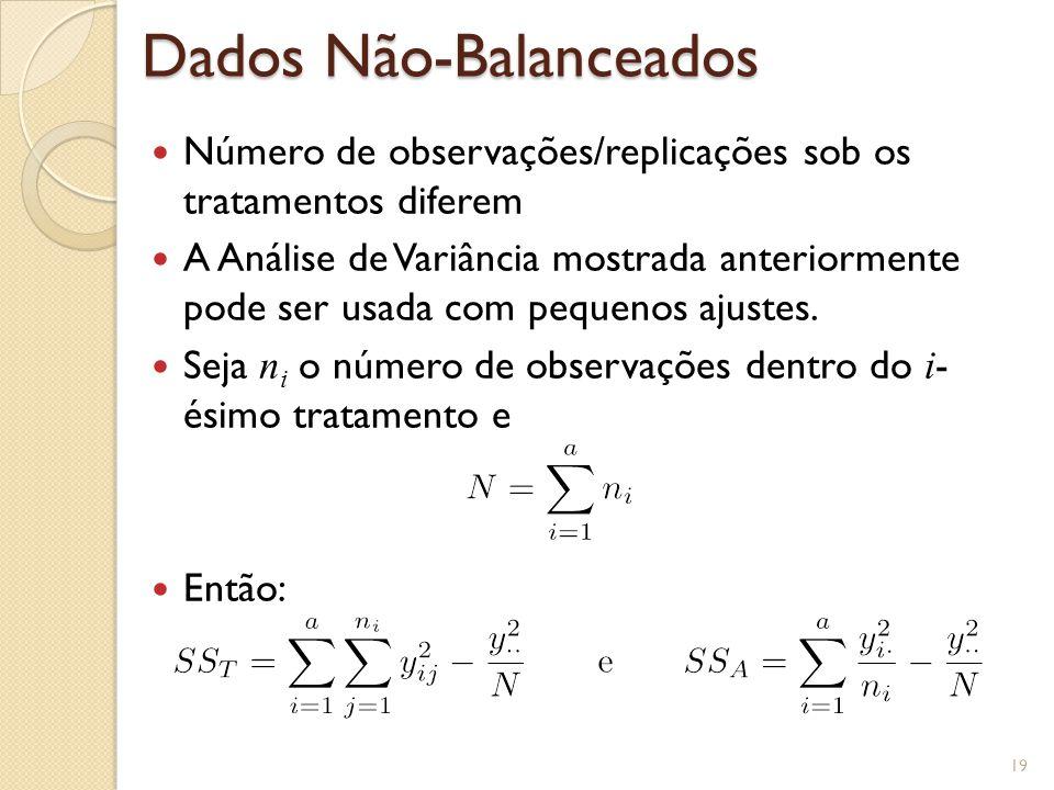 Dados Não-Balanceados