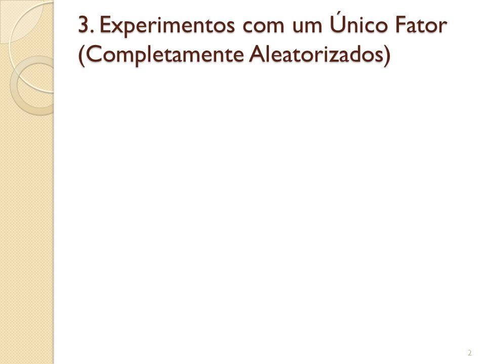 3. Experimentos com um Único Fator (Completamente Aleatorizados)