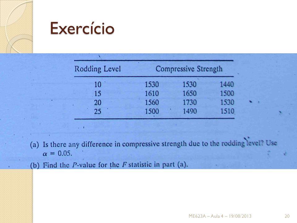 Exercício ME623A – Aula 4 – 19/08/2013