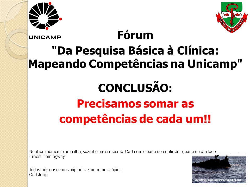 Da Pesquisa Básica à Clínica: Mapeando Competências na Unicamp