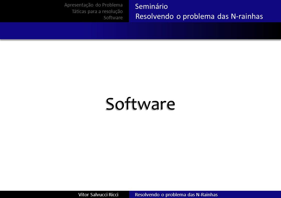 Software Resolvendo o problema das N-rainhas Seminário