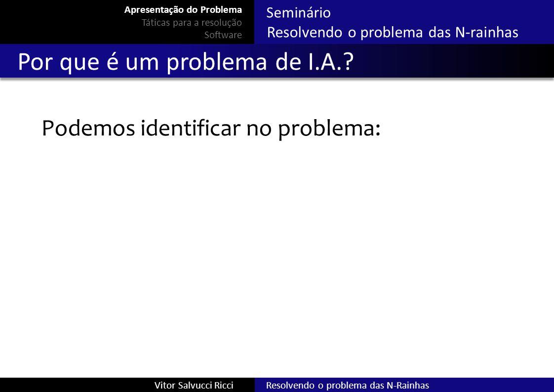Por que é um problema de I.A.