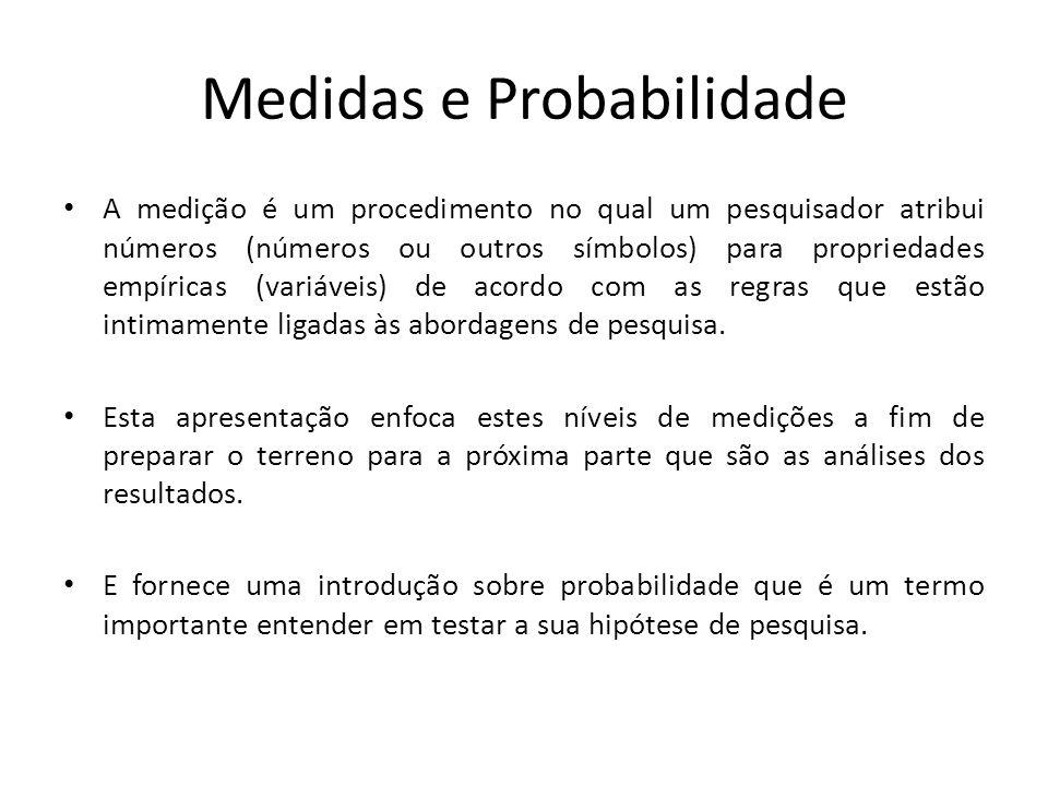 Medidas e Probabilidade