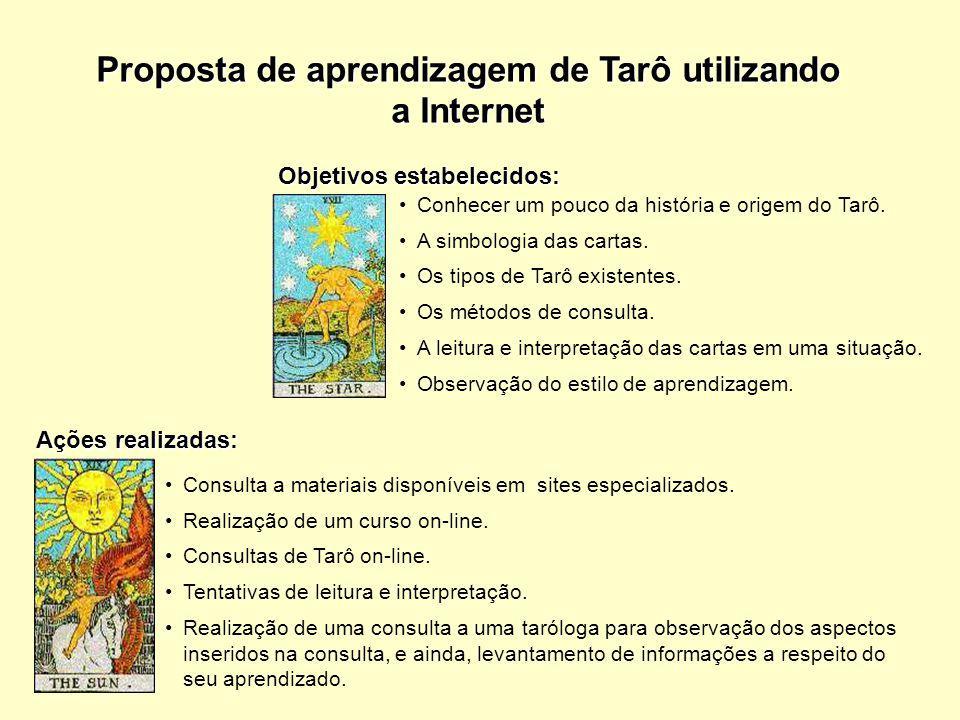 Proposta de aprendizagem de Tarô utilizando a Internet