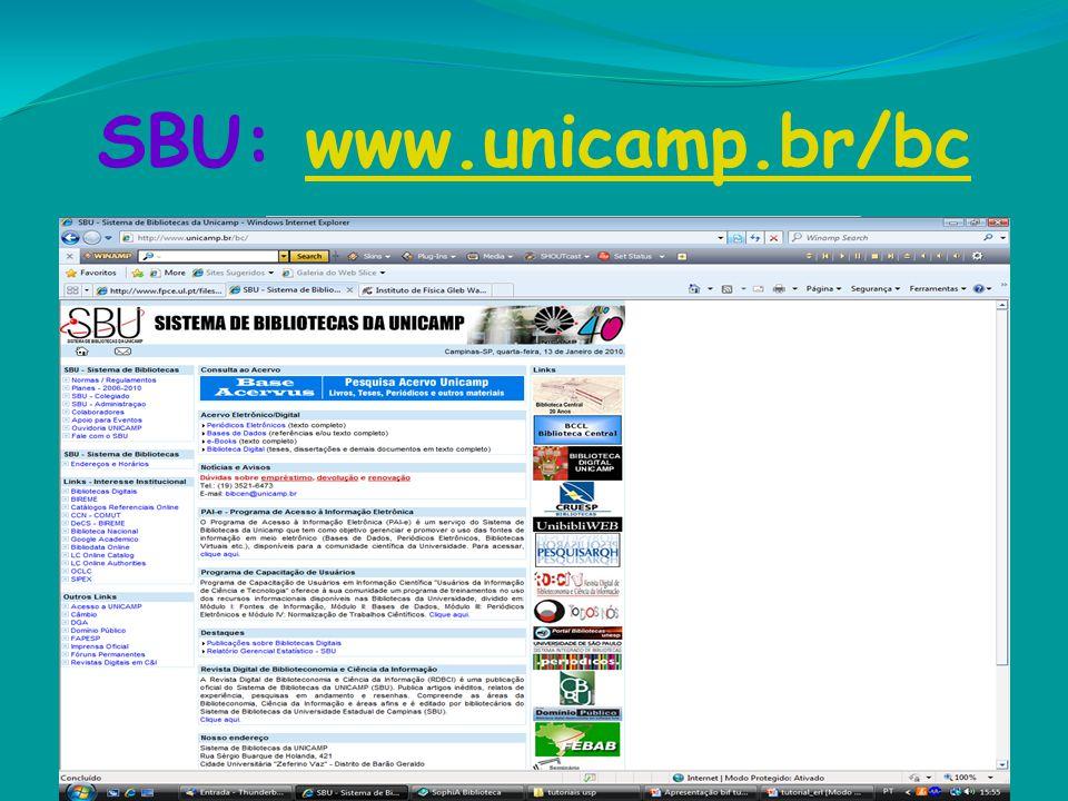 SBU: www.unicamp.br/bc