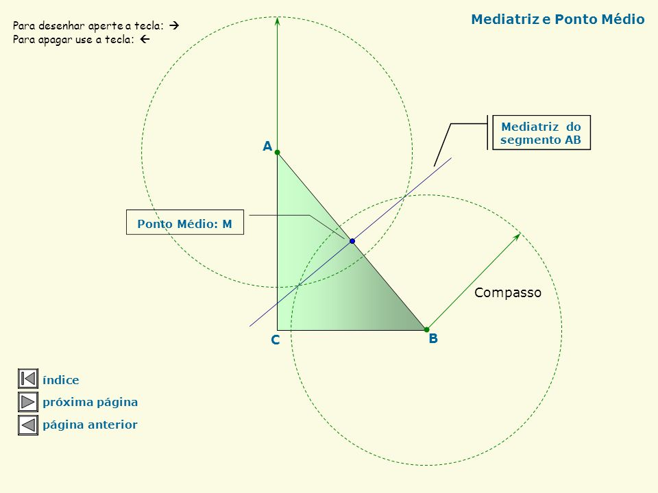 Mediatriz e Ponto Médio