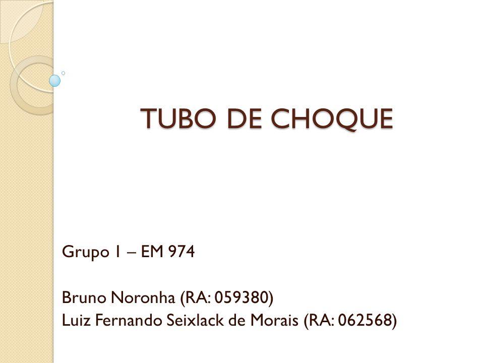 TUBO DE CHOQUE Grupo 1 – EM 974 Bruno Noronha (RA: 059380)