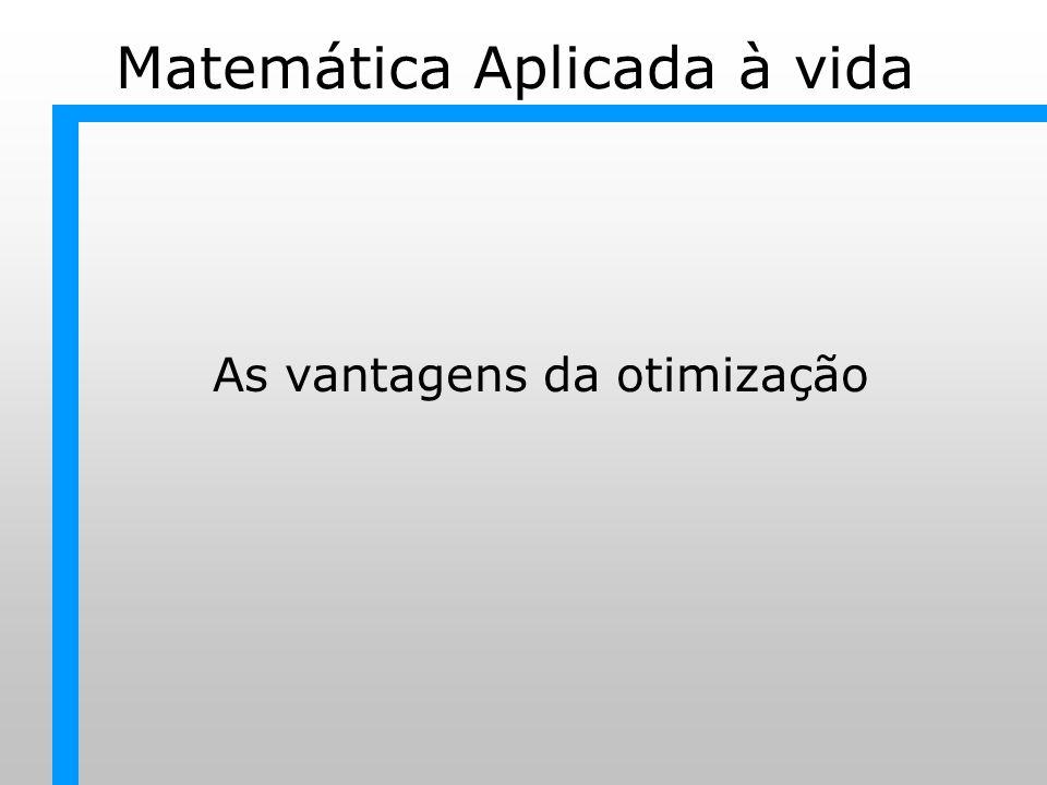 Matemática Aplicada à vida