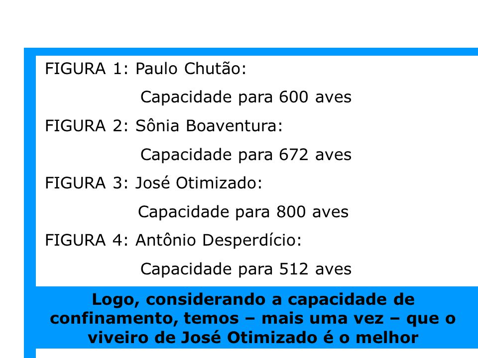 FIGURA 1: Paulo Chutão: Capacidade para 600 aves. FIGURA 2: Sônia Boaventura: Capacidade para 672 aves.