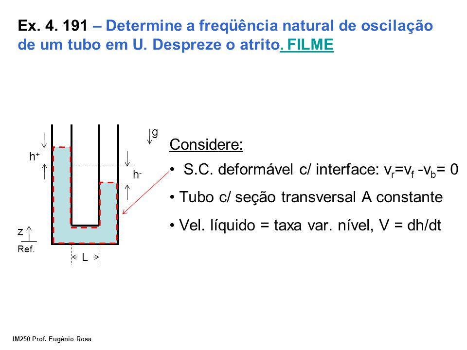 S.C. deformável c/ interface: vr=vf -vb= 0