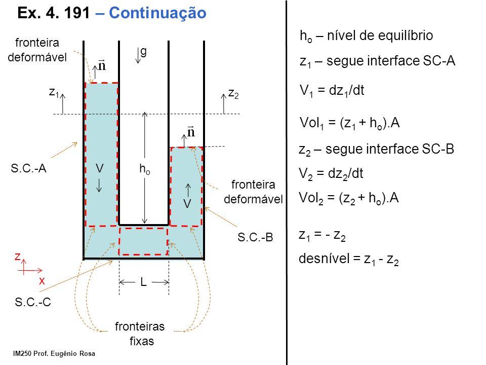 Ex. 4. 191 – Continuação ho – nível de equilíbrio