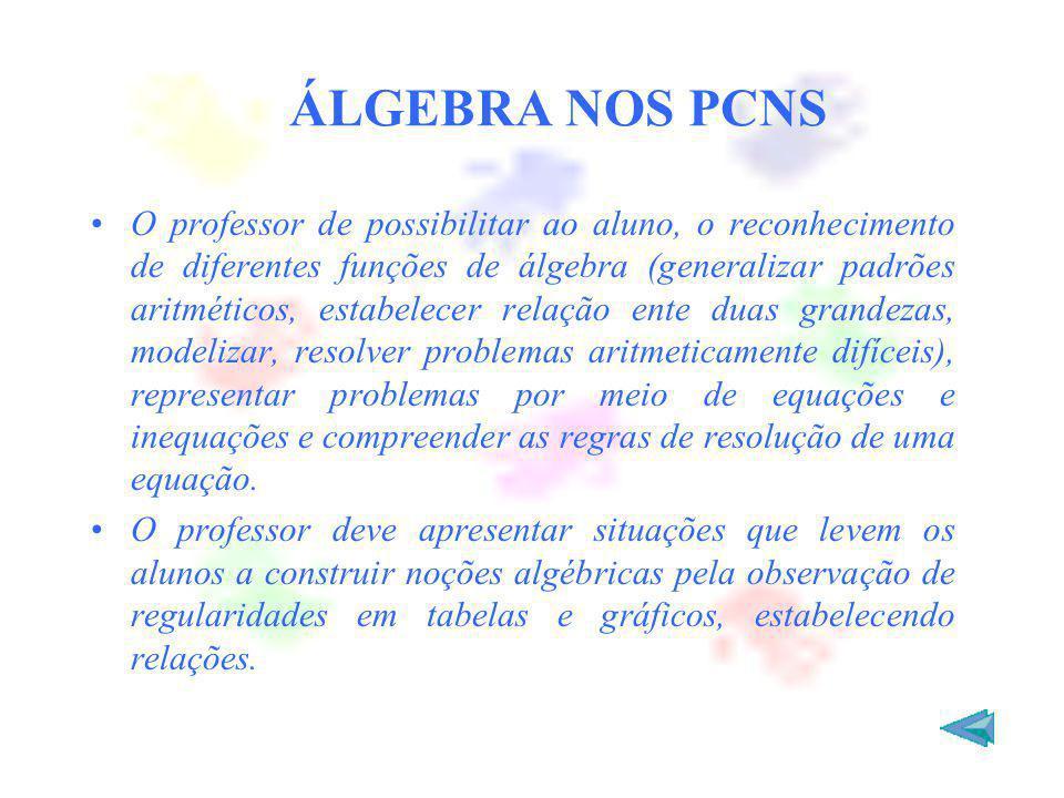 ÁLGEBRA NOS PCNS